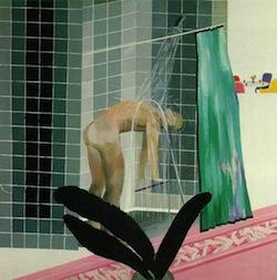 surrealismo doccia uomo tranquillità