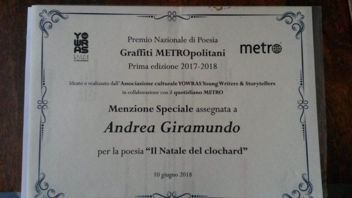 menzione speciale Andrea Giramundo