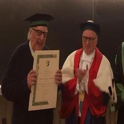Lo scrittore Camilleri professore Emerito Honoris Causa all'Università Tor Vergata