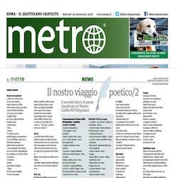 Andrea giramundo metro Italia giornale poesia